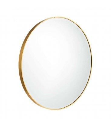 Espejo redondo con marco dorado (varios tamaños)