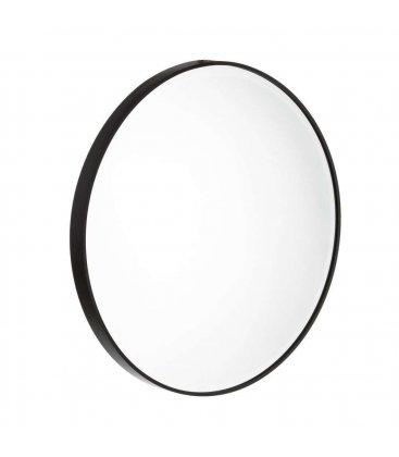 Espejo redondo con marco negro (varios tamaños)