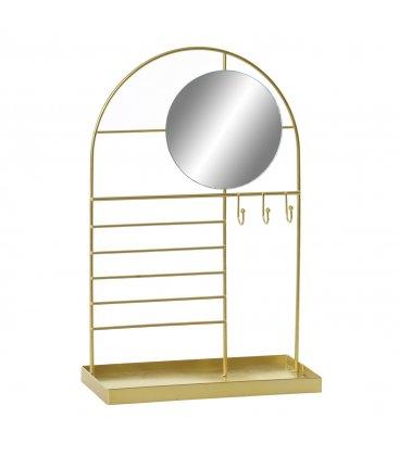 Joyero dorado con espejo y bandeja n02