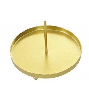 Joyero dorado con espejo y bandeja n01