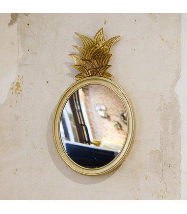 Espejo dorado forma piña