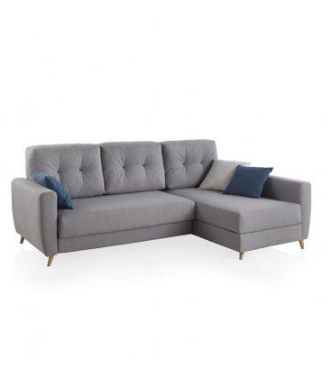 Sofá cama con chaise longue CASSIS (varios tapizados)