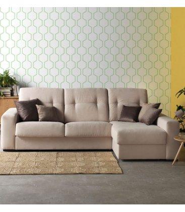 Sofá cama con chaise longue con arcón EDIMBURGO (varias dimensiones y tapizados)