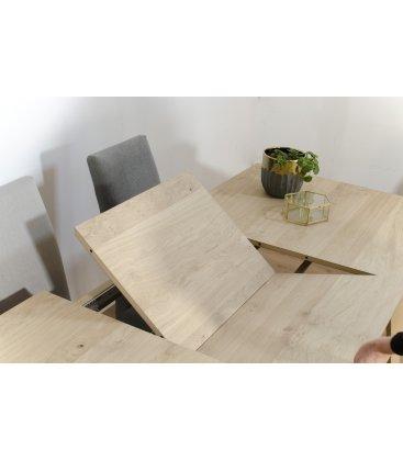 Mesa de comedor extensible de madera NORWAY SQUARE (varios tamaños)