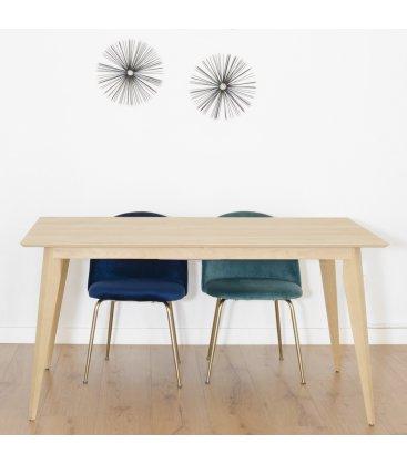 Mesa de comedor fija de madera NORWAY SQUARE (varios tamaños)