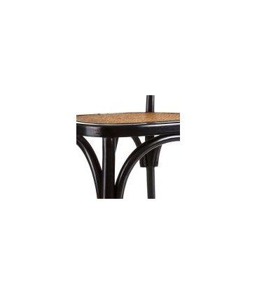 Silla de madera de abedul negra y rejilla ratán DARE  (2 unidades)