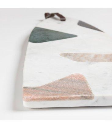 Tabla de cortar de mármol tipo terrazzo MARBLE 16x40cm