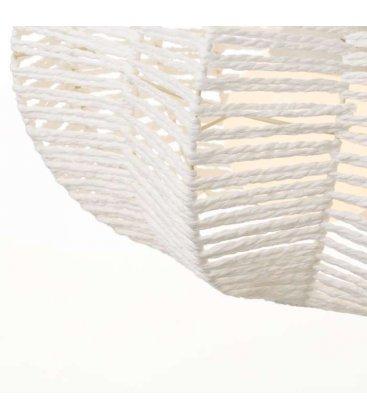Lámpara de techo de cuerda blanca trenzada FOREST