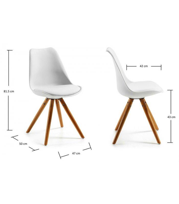 Pack 4 sillas de comedor blanca silla dise o n rdico for Sillas de diseno blancas