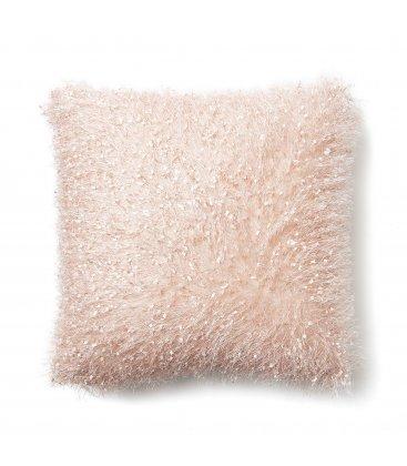 Funda de cojín cuadrado rosa GLIT 45x45cm
