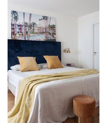 Cabecero tapizado en tela con capitoné CASIOPEA (varios colores)
