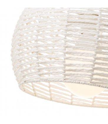 Lámpara de techo de cuerda blanca trenzada JUNGLE