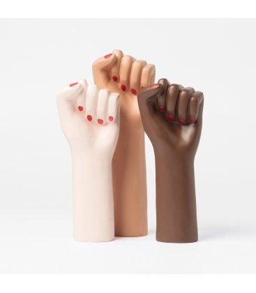 """Jarrón """"GIRL POWER"""" brown"""