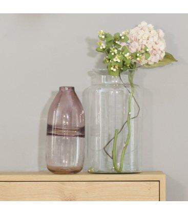 Jarrón de vidrio ahumado rosa VASE