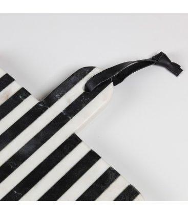 Tabla de cortar de mármol rayas blancas y negras MARBLE 25x25cm