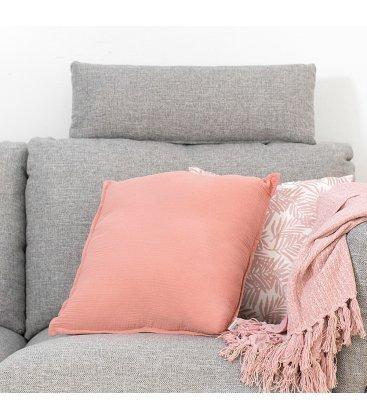 Cojín cuadrado rosa liso SMOOTH 45x45cm