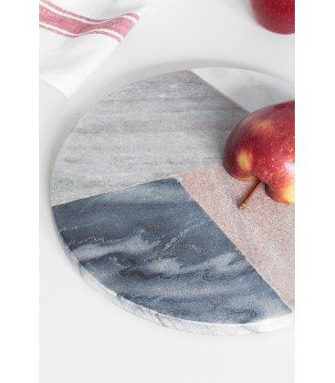 Salvamanteles circular de mármol tipo terrazzo MARBLE diámetro 20cm