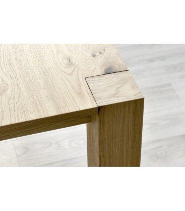 Mesa de comedor extensible de madera TROMSO (varios tamaños)