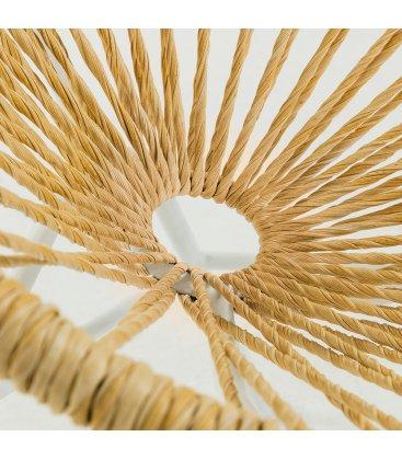 Silla ACAPULCO en color natural con patas blancas