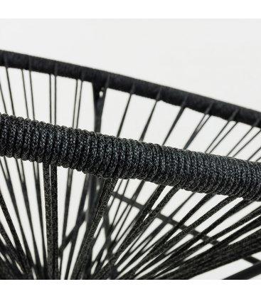 Silla ACAPULCO en color negro con patas negras