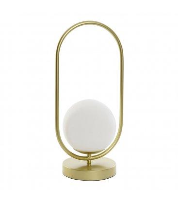 Lámpara de sobremesa dorada y tulipa opal DORÉ