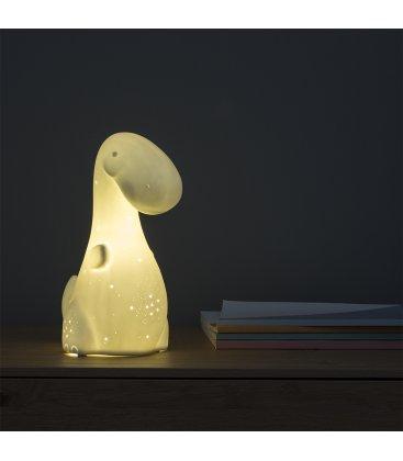 Lámpara quitamiedos de porcelana con forma de dinosaurio DINO