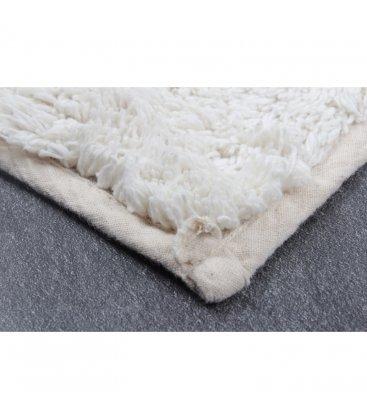 Alfombra de algodón estilo bereber blanco y negro 120x170cm NOIR