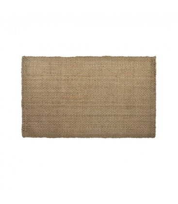 Alfombra rectangular de yute trenzado en color natural 120x180cm