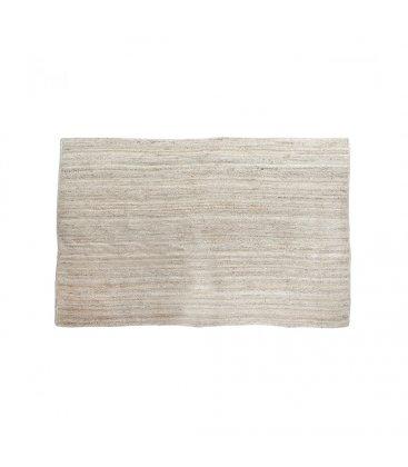 Alfombra rectangular de yute trenzado en color natural blanqueado 120x180cm