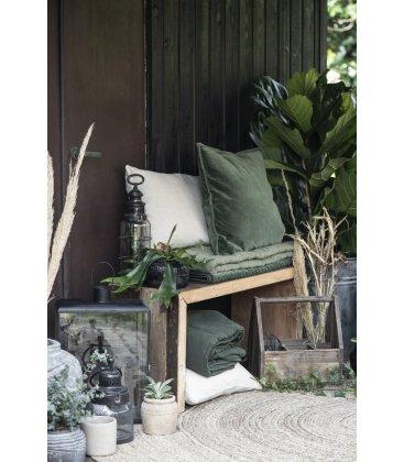 Organizador de madera antigua tipo cesta con 4 compartimentos BRICK