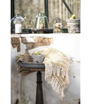 Plaid beige y mostaza 100% algodón (160cmx130cm)