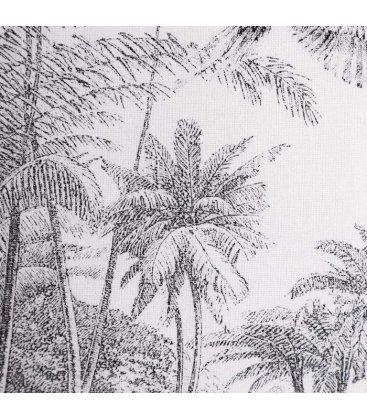 Cojín cuadrado blanco y gris AKELA N01 45x45cm