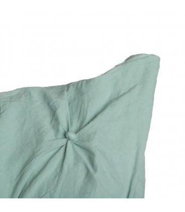 Cojín cuadrado verde con botoncitos NUTE 45x45cm