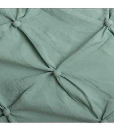 Almohadón verde con botoncitos NUTE 60x60cm