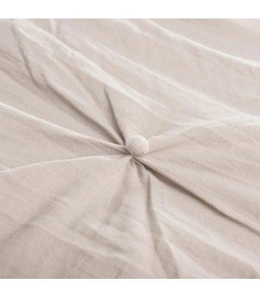 Colcha con relleno beige con botoncitos NUTE 180x260cm