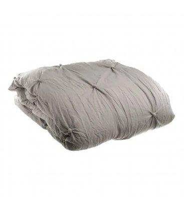Colcha con relleno gris con botoncitos NUTE 180x260cm