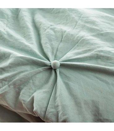 Colcha con relleno verde con botoncitos NUTE 180x260cm