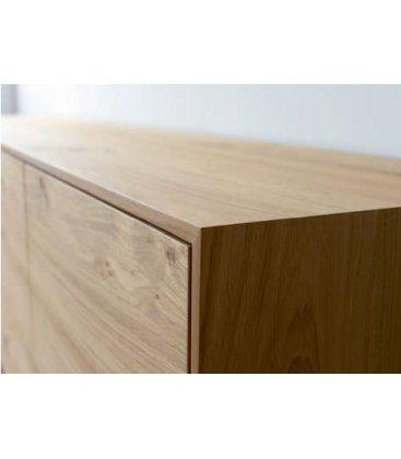 Mueble TV con zócalo o patas NORWAY 200 cm con 2 puertas, 3 cajones y 1 hueco (varios acabados)