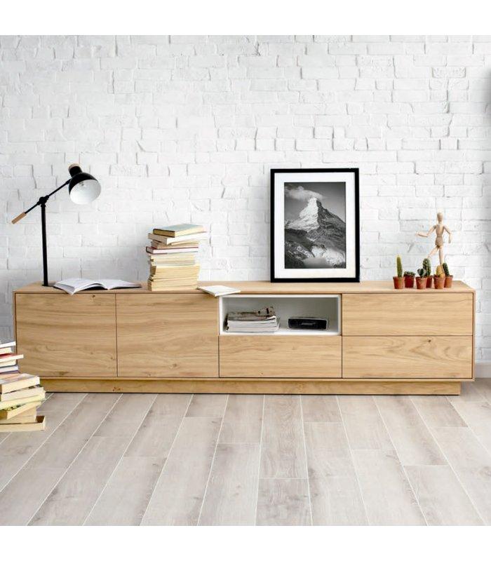 Mueble Tv Con Zócalo O Patas Norway 200 Cm Varios Acabados
