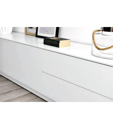 Mueble TV con zócalo o patas NORWAY 200cm con 2 puertas, 1 cajones (varios acabados)