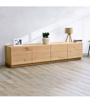 Mueble TV con zócalo o patas NORWAY con 4 puertas (varios tamaños y acabados)