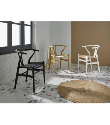 Pack de 2 sillas de madera en color natural ANEA