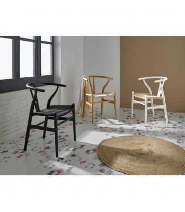 Pack de 2 sillas de madera en color negro ANEA