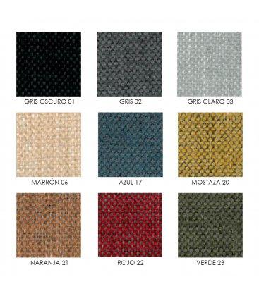 Sillón orejero reclinable tapizado NAP (varios colores)