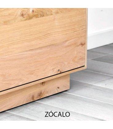 Mueble TV aparador con patas o zócalo NORWAY 120 cm con 1 puerta y 2 cajones (varios acabados)