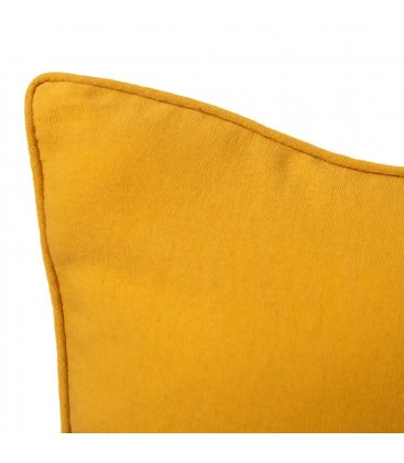 Cojín cuadrado amarillo liso SMOOTH 45x45cm