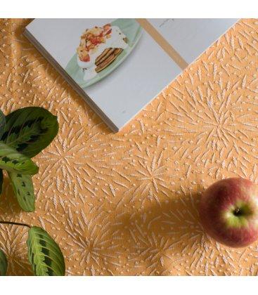 Camino de mesa amarillo con bordado blanco FIREWORKS 50x150cm