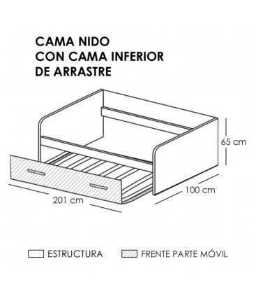 Cama nido personalizable CONI