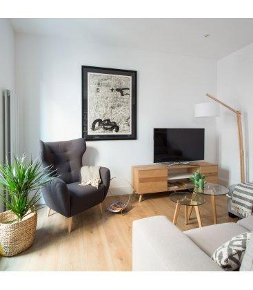 Mueble TV con zócalo o patas NORWAY 160cm con 1 puerta, 2 cajones y 2 hueco (varios acabados)