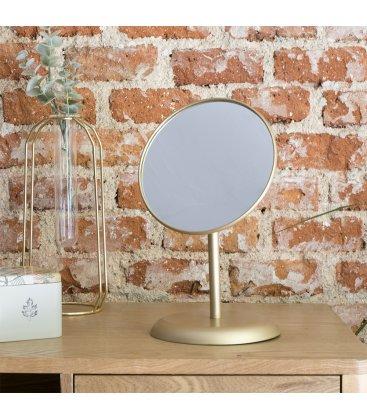 Espejo de mesa dorado orientable YAN